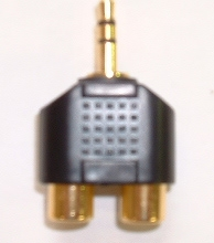 Audio Socket (CK3021) 3.5mm to 2 x RCA