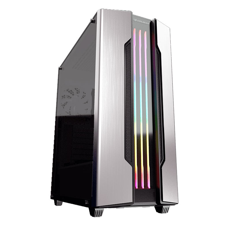 Cougar Gemini-S RGB Tempered Glass Gaming Case (Silver)