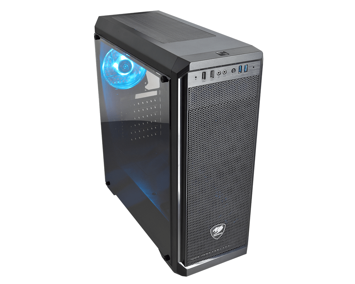 Cougar MX330-S-XTC500 Mid Tower, Window, Blue LED, 500W PSU