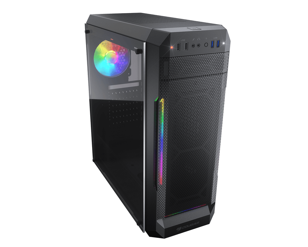 Cougar MX331 Mesh-G ARGB Mid Tower Case, 1x Fan, 3x Strips