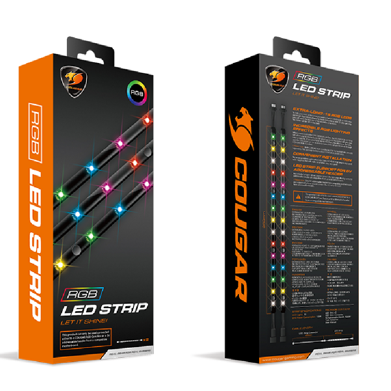 Cougar CF-STR-RGB Dual Pack 2x300mm RGB LED Strips