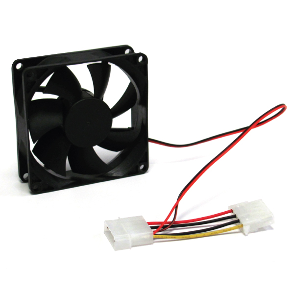 8cm (80mm) Case Fan For Computer Cases, Blue LED (FAN84C)
