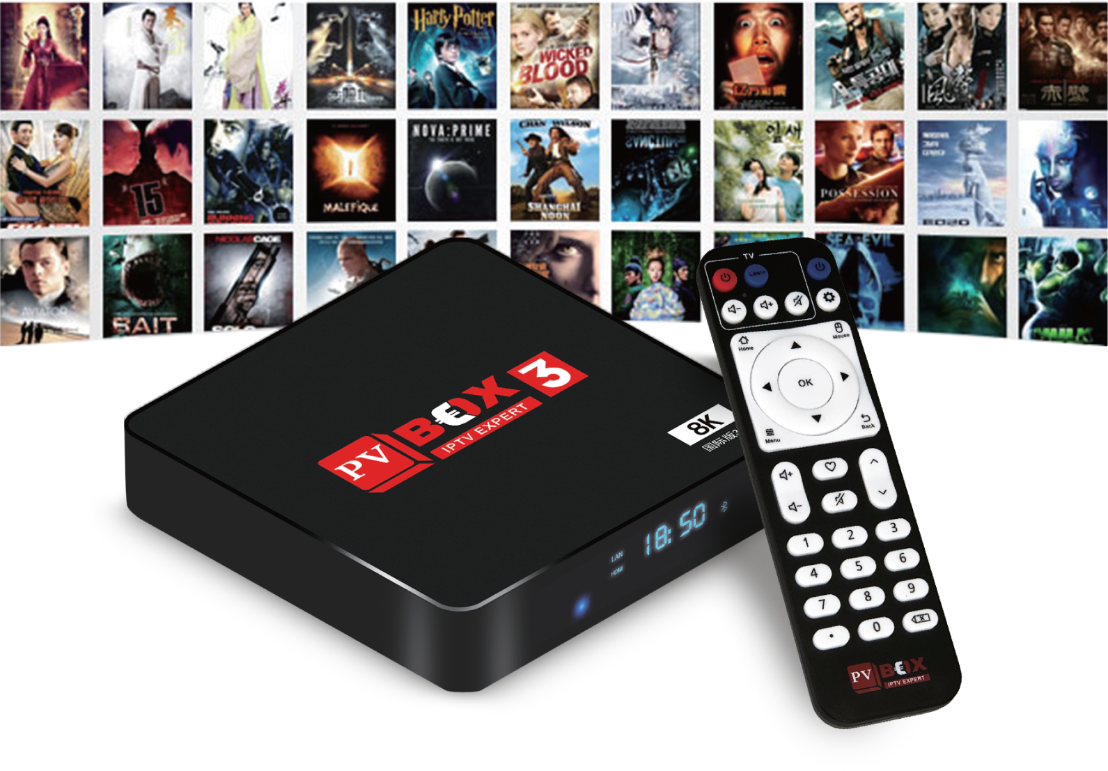 PVBox 3 - Android TV Media Box (2GB DDR3 RAM, 16GB eMMc ROM)