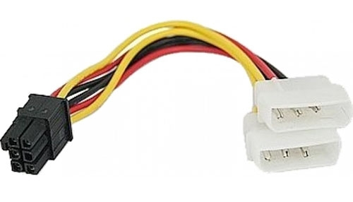 6-Pin (RC-5056) PCI Card Power Cable (2x3Pin, 2x4Pin Molex)