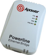 Apower Powerline Ethernet Bridge (56Mbps)
