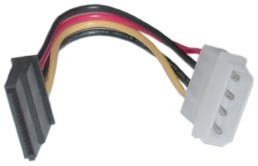 SATA Power Cable, 4pin Molex to 2 x 15pin SATA